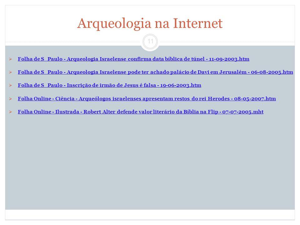 Arqueologia na Internet