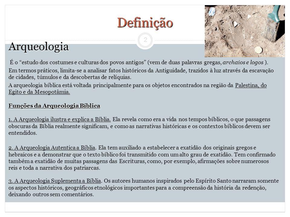 Definição Arqueologia
