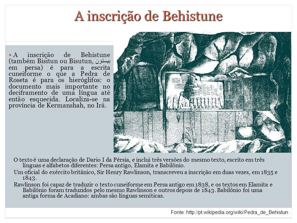A inscrição de Behistune