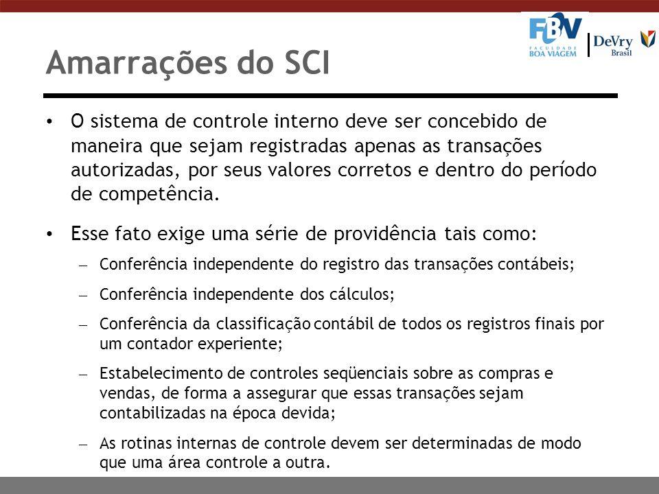 Amarrações do SCI