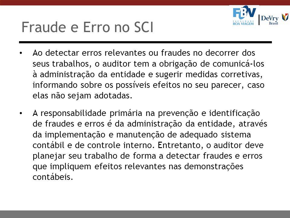 Fraude e Erro no SCI