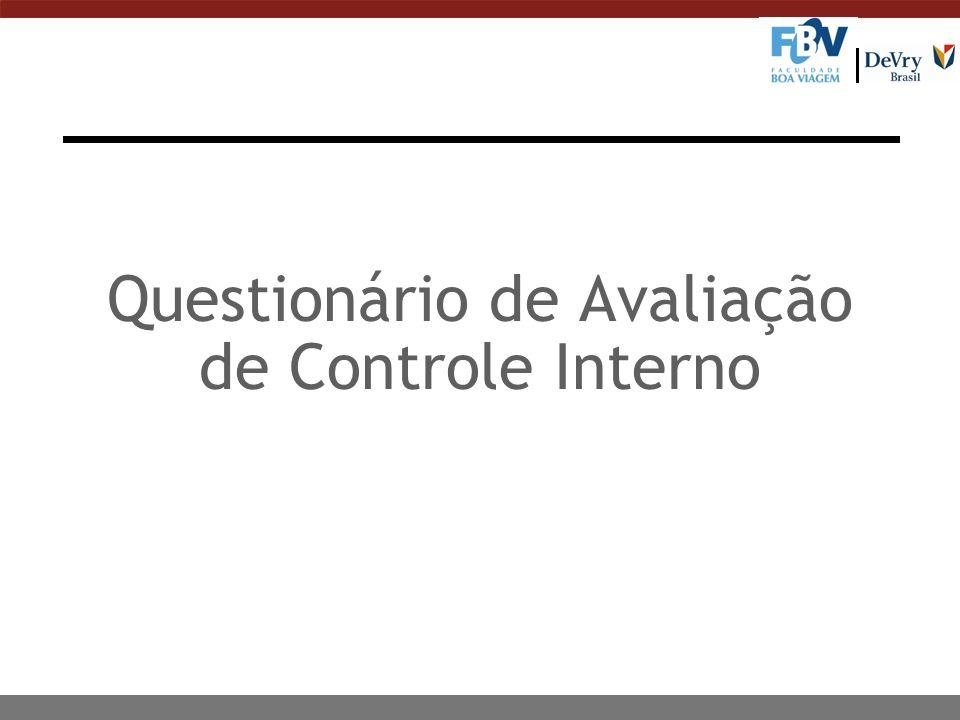 Questionário de Avaliação de Controle Interno