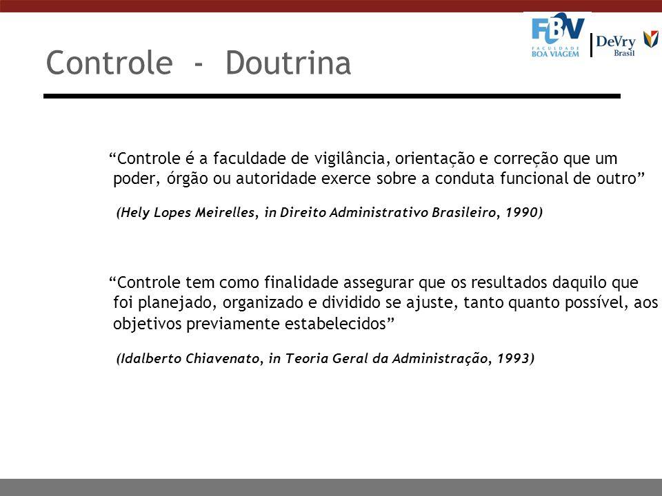 Controle - Doutrina