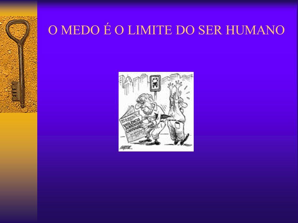 O MEDO É O LIMITE DO SER HUMANO