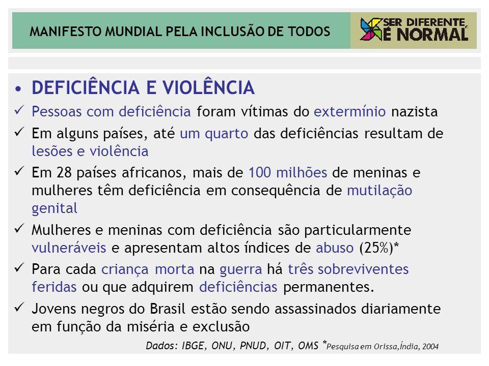 DEFICIÊNCIA E VIOLÊNCIA