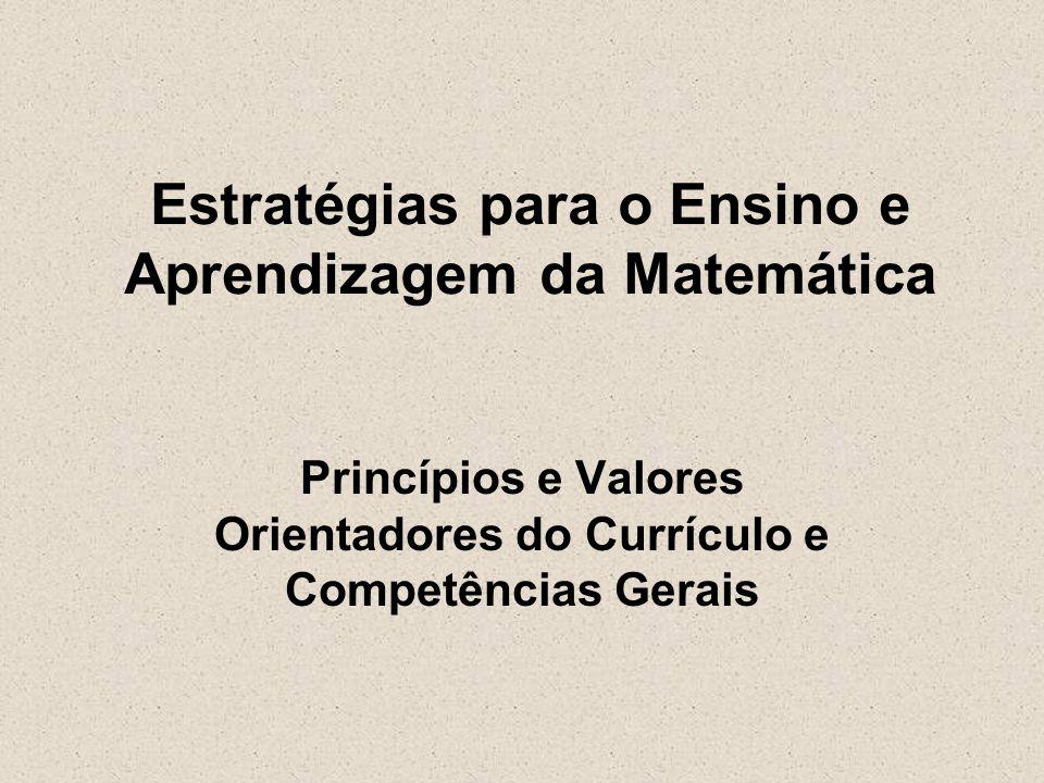 Estratégias para o Ensino e Aprendizagem da Matemática