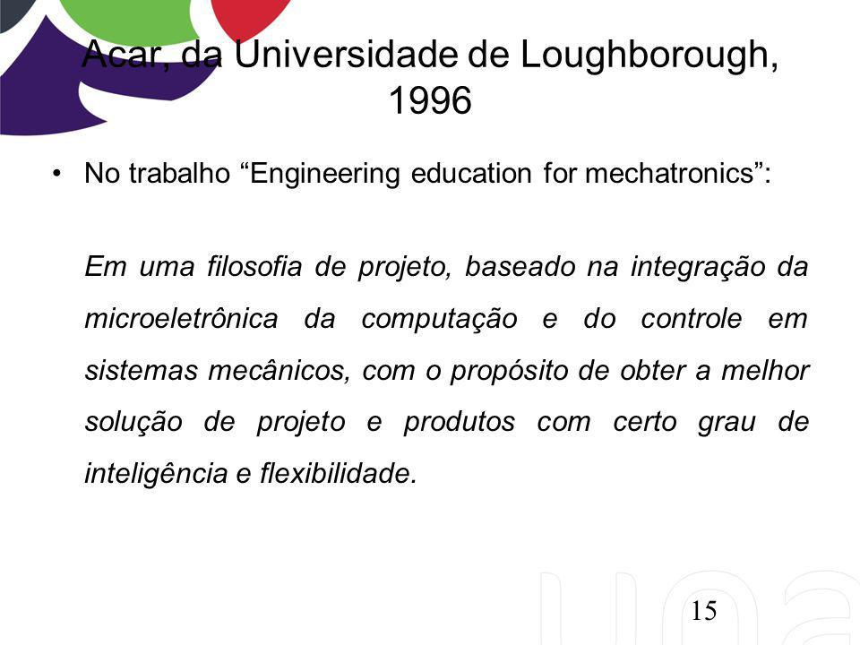 Acar, da Universidade de Loughborough, 1996