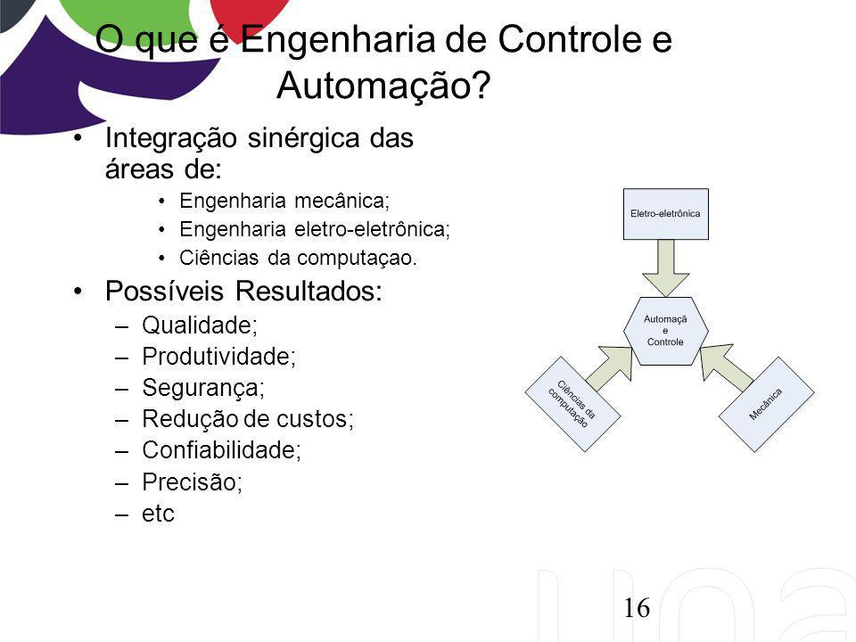 O que é Engenharia de Controle e Automação