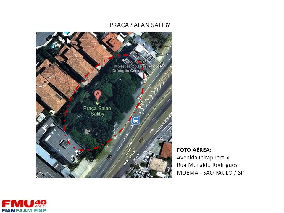 PRAÇA SALAN SALIBY FOTO AÉREA: Avenida Ibirapuera x
