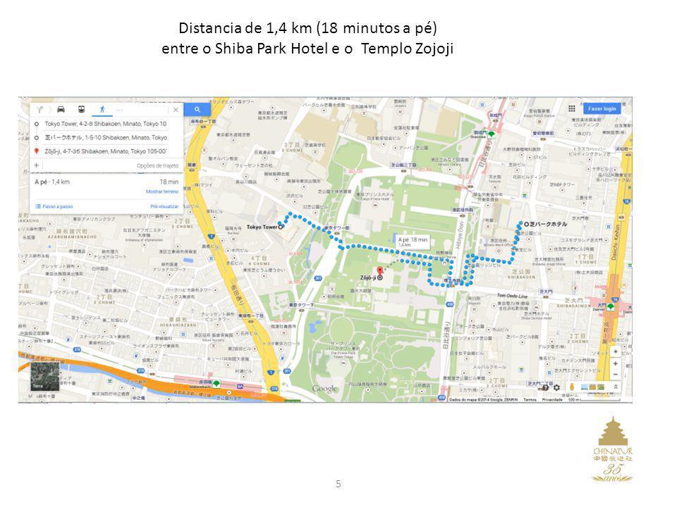 Distancia de 1,4 km (18 minutos a pé)