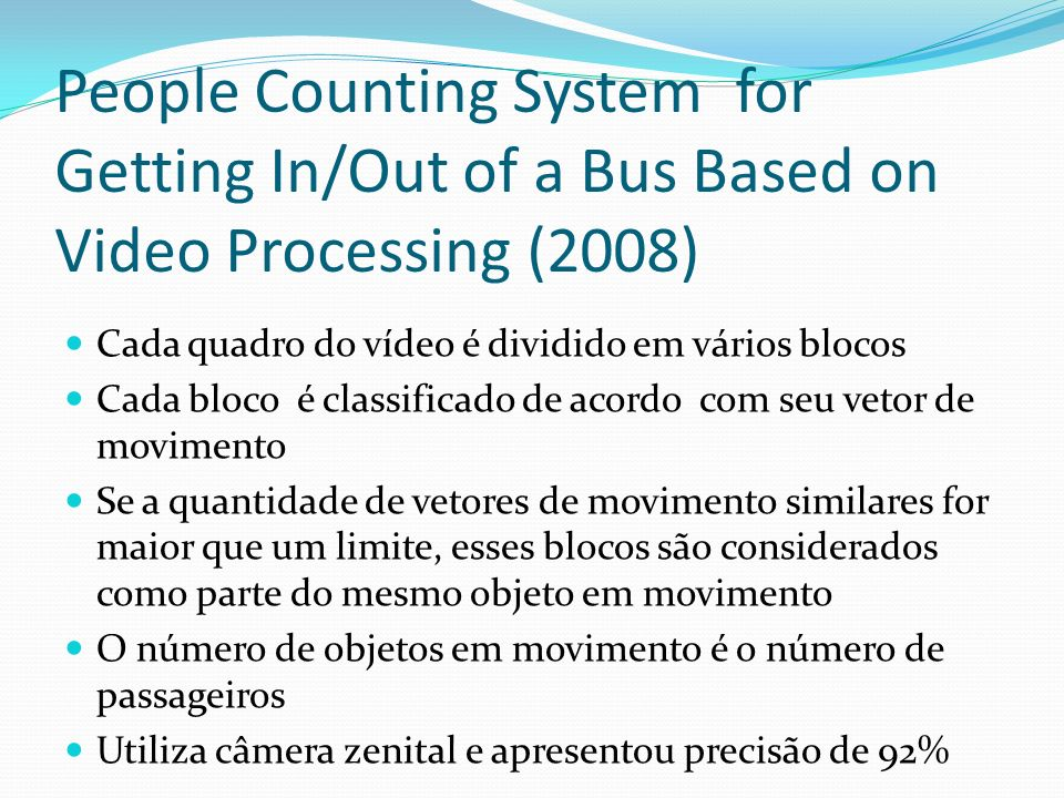 People Counting System for Getting In/Out of a Bus Based on Video Processing (2008)
