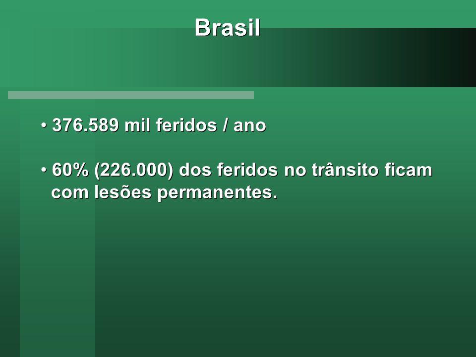 Brasil 376.589 mil feridos / ano