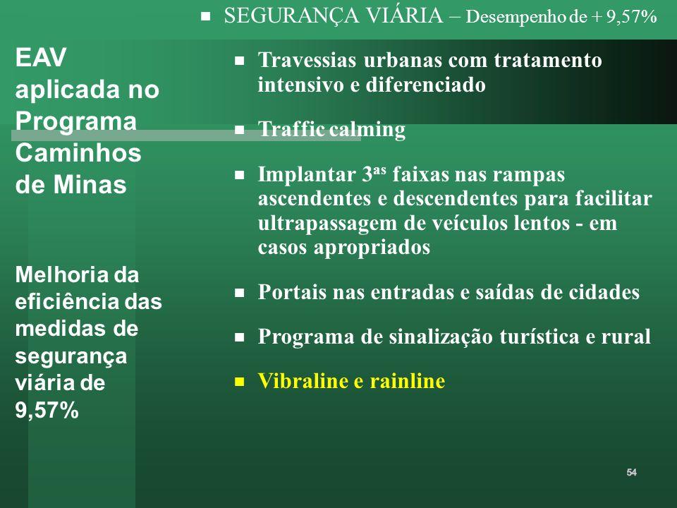 EAV aplicada no Programa Caminhos de Minas