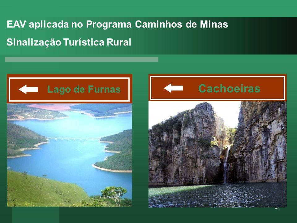 Cachoeiras EAV aplicada no Programa Caminhos de Minas
