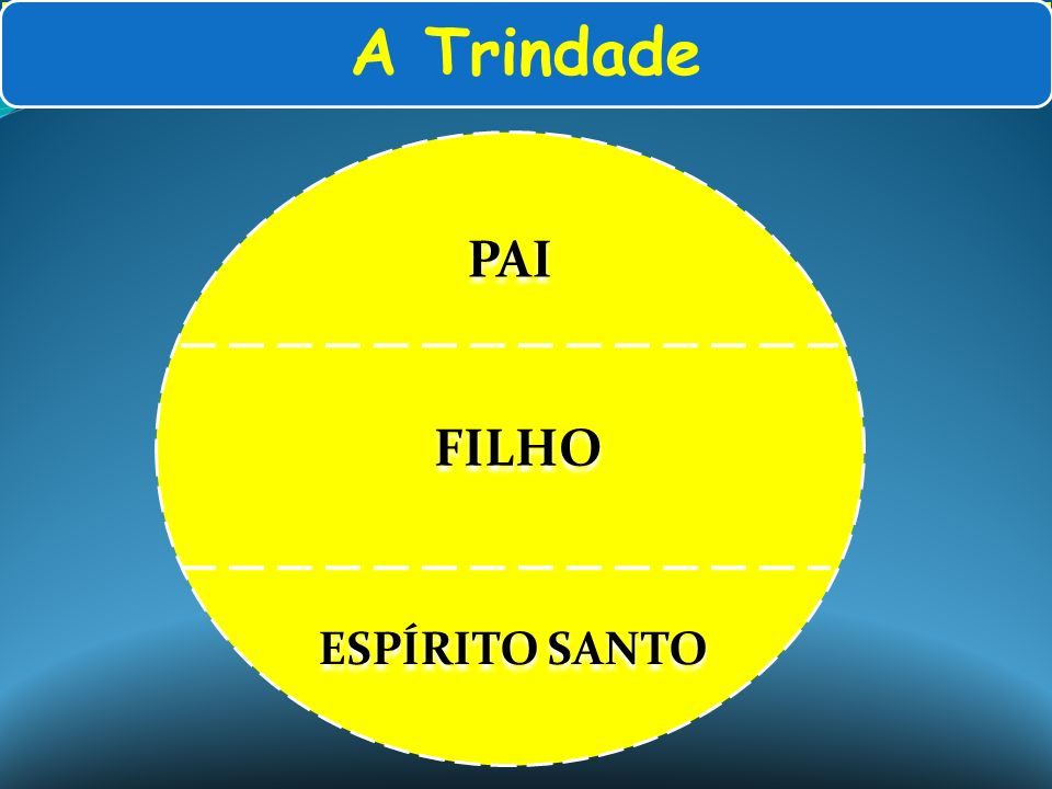 A Trindade PAI FILHO ESPÍRITO SANTO