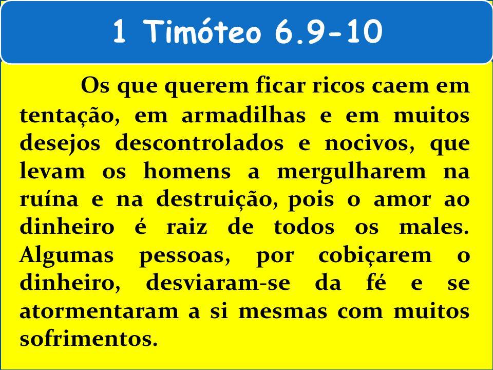 1 Timóteo 6.9-10