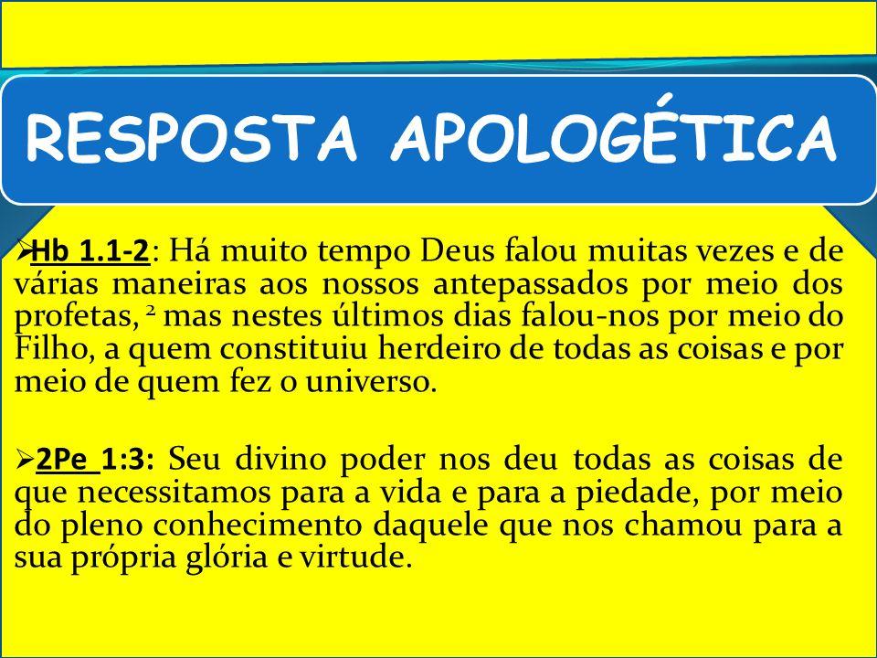 RESPOSTA APOLOGÉTICA