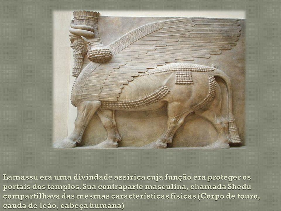 Lamassu era uma divindade assírica cuja função era proteger os portais dos templos.