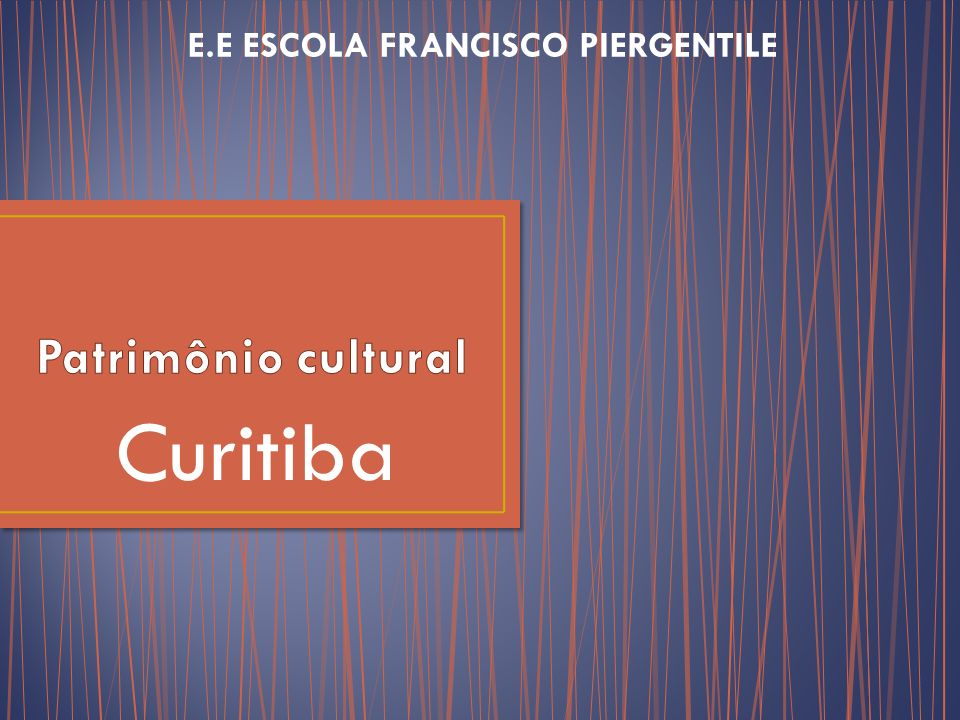 E.E ESCOLA FRANCISCO PIERGENTILE