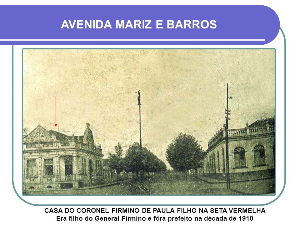 AVENIDA MARIZ E BARROS