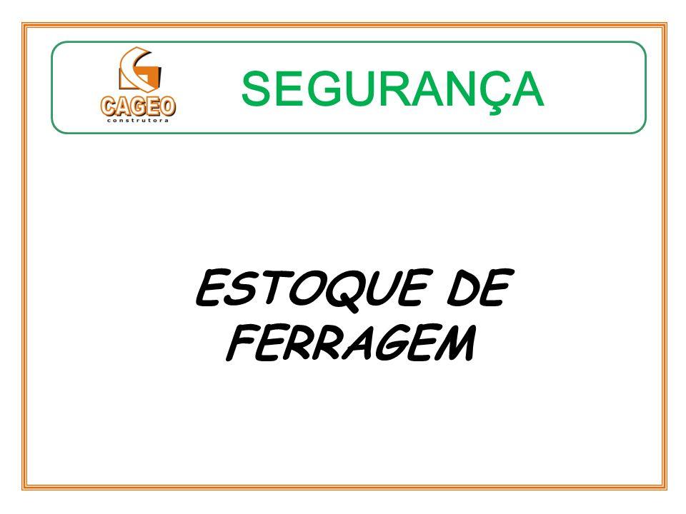 SEGURANÇA ESTOQUE DE FERRAGEM