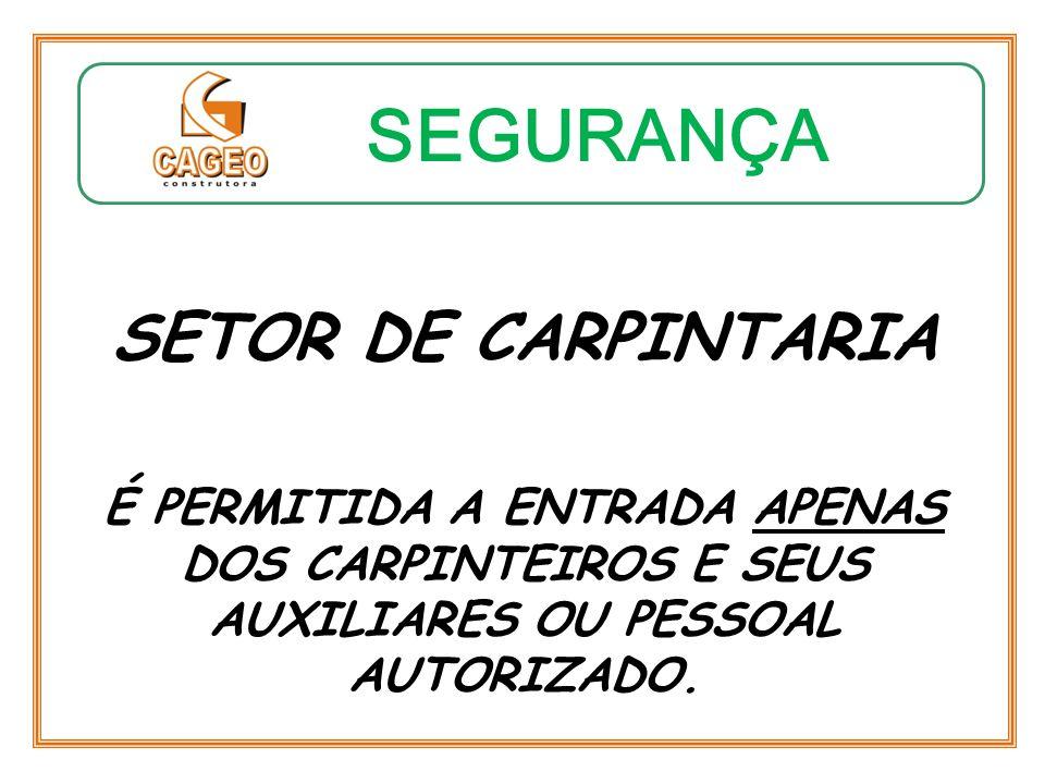 SEGURANÇA SETOR DE CARPINTARIA