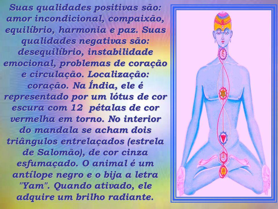 Suas qualidades positivas são: amor incondicional, compaixão, equilíbrio, harmonia e paz.