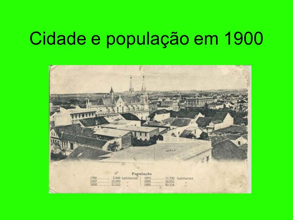 Cidade e população em 1900 11