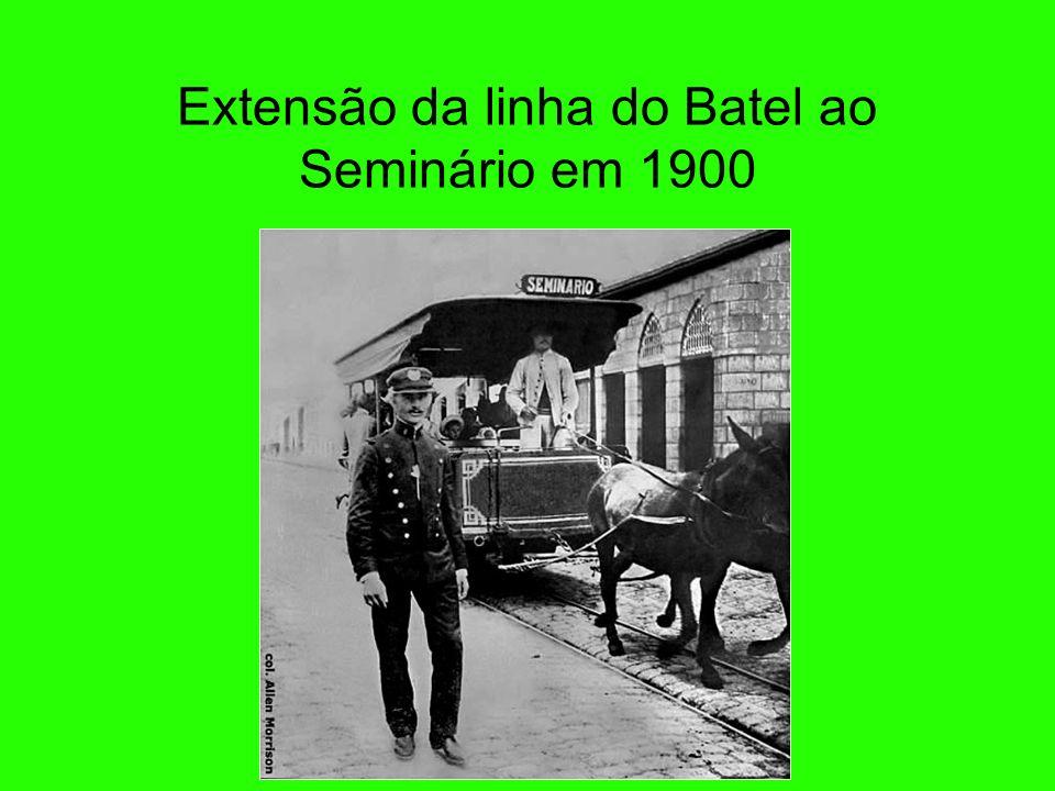 Extensão da linha do Batel ao Seminário em 1900