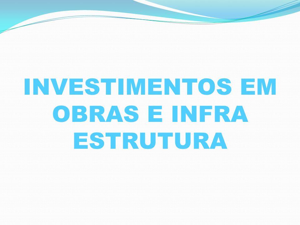 INVESTIMENTOS EM OBRAS E INFRA ESTRUTURA
