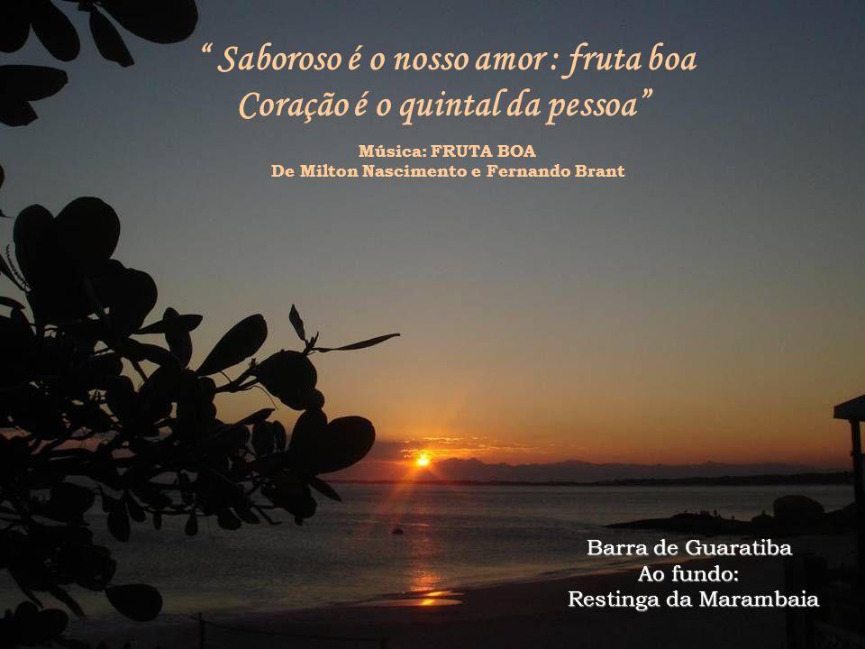Saboroso é o nosso amor : fruta boa Coração é o quintal da pessoa