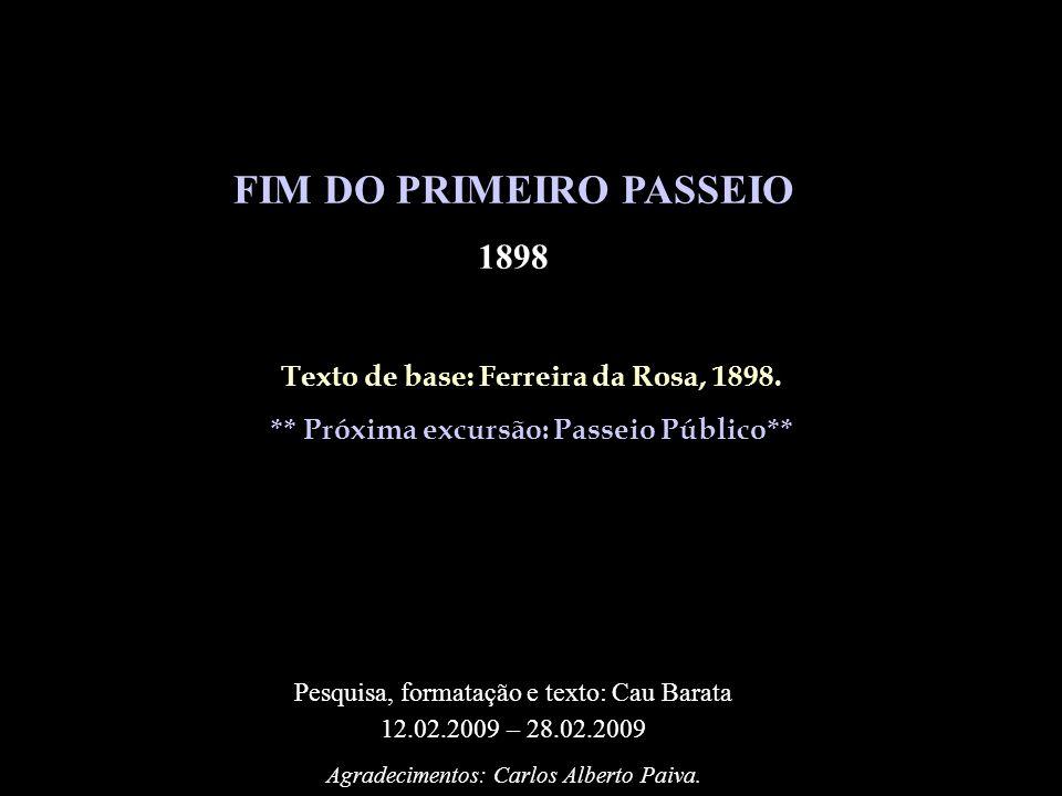 FIM DO PRIMEIRO PASSEIO