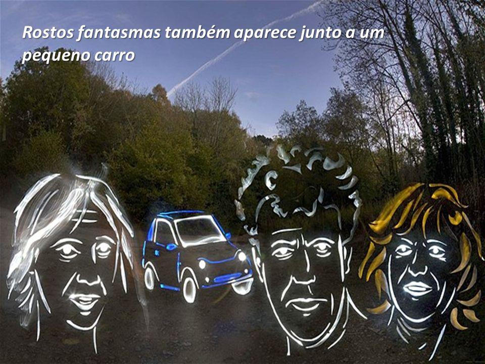 Rostos fantasmas também aparece junto a um pequeno carro