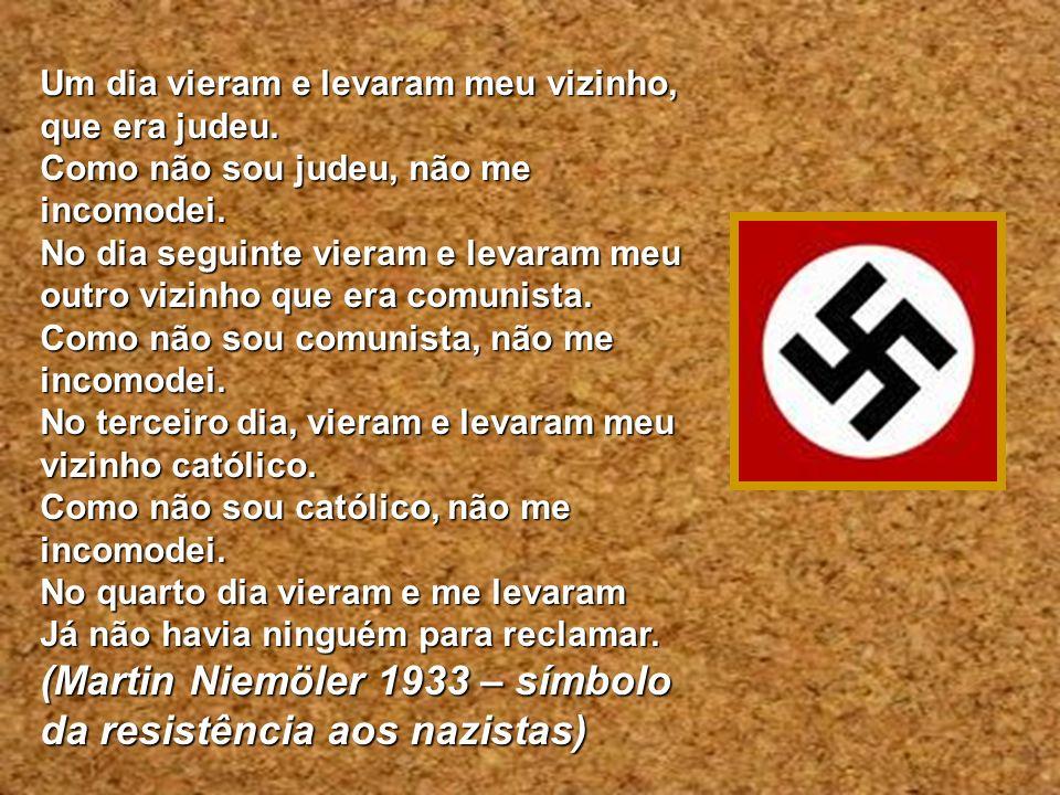 (Martin Niemöler 1933 – símbolo da resistência aos nazistas)