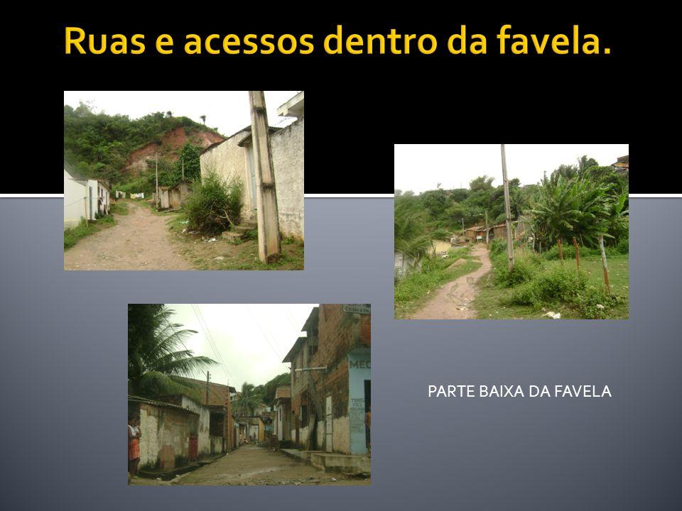 Ruas e acessos dentro da favela.