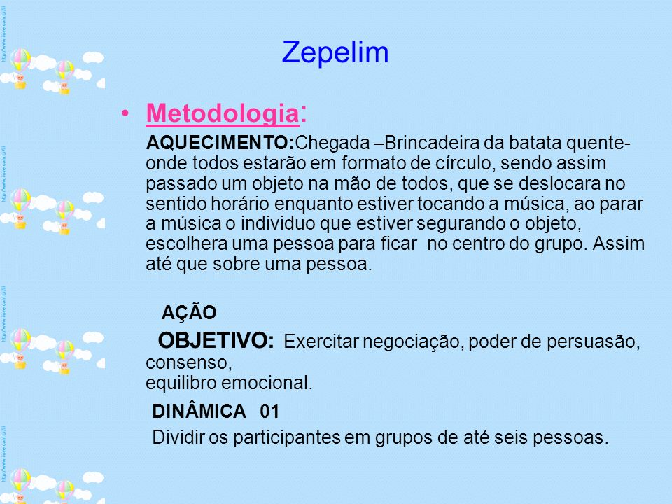 Zepelim Metodologia: