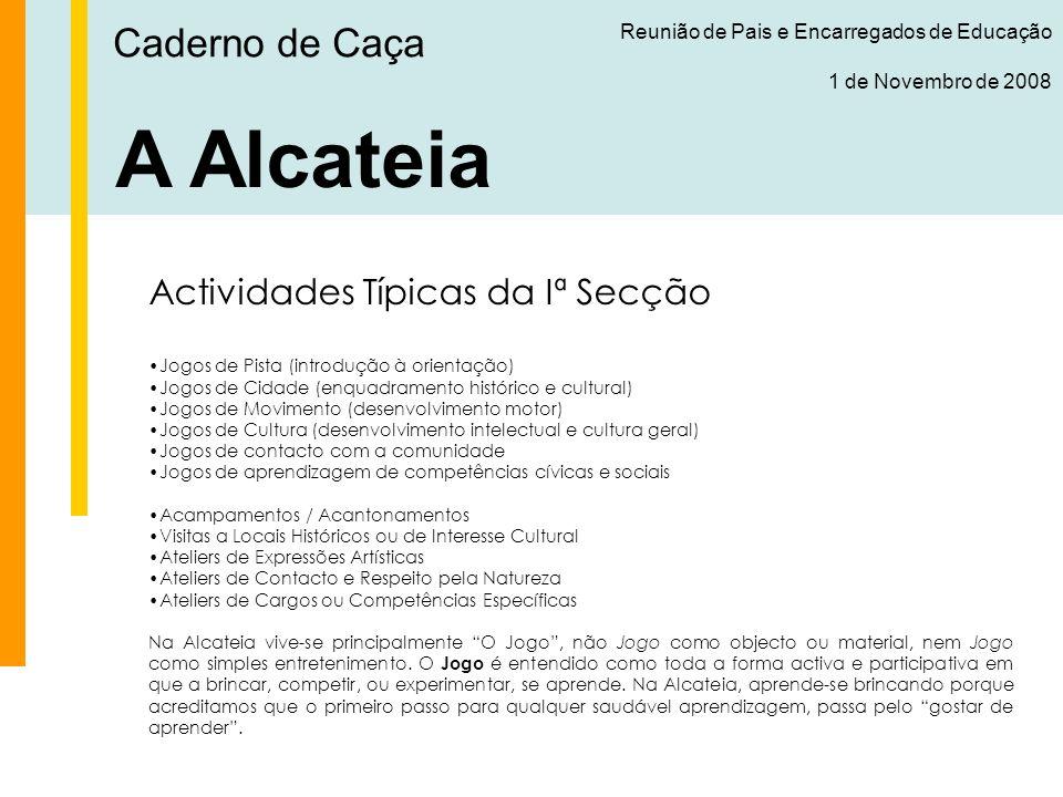 A Alcateia Caderno de Caça Actividades Típicas da Iª Secção
