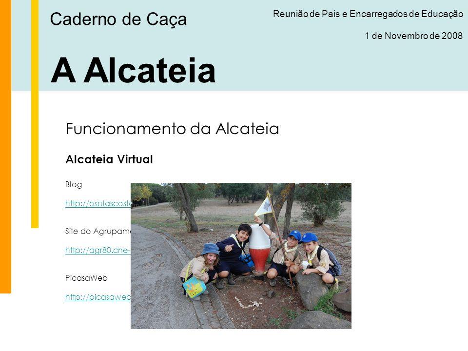 A Alcateia Caderno de Caça Funcionamento da Alcateia Alcateia Virtual