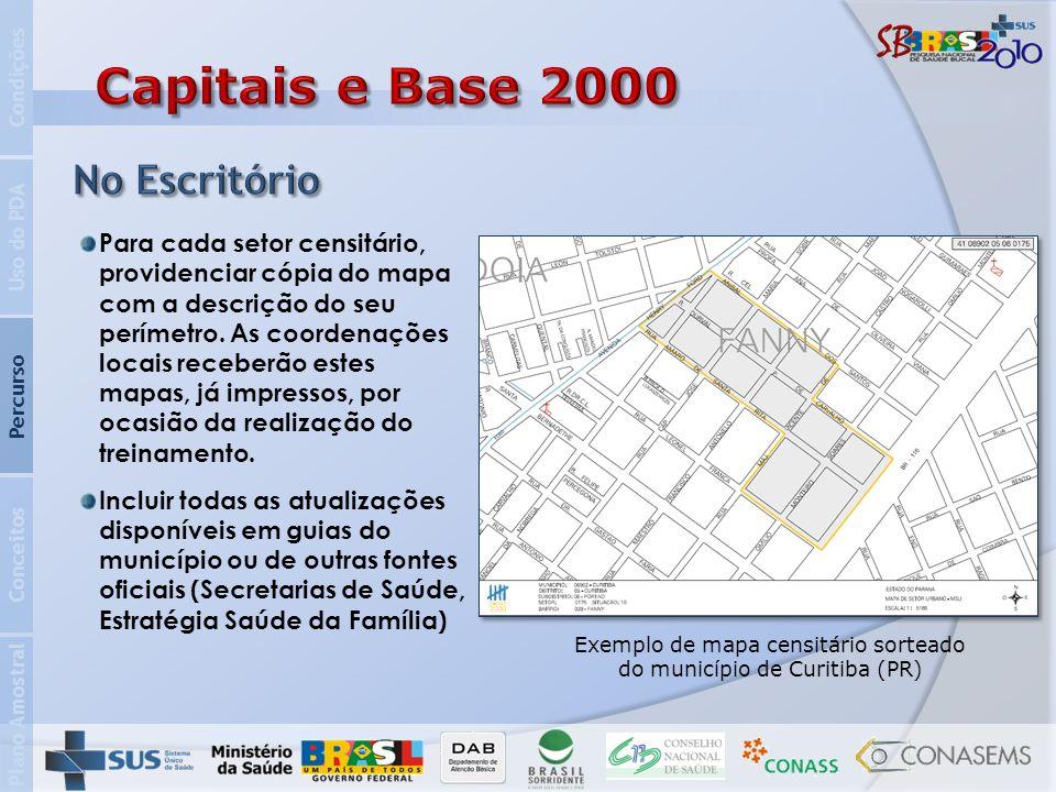 Exemplo de mapa censitário sorteado do município de Curitiba (PR)