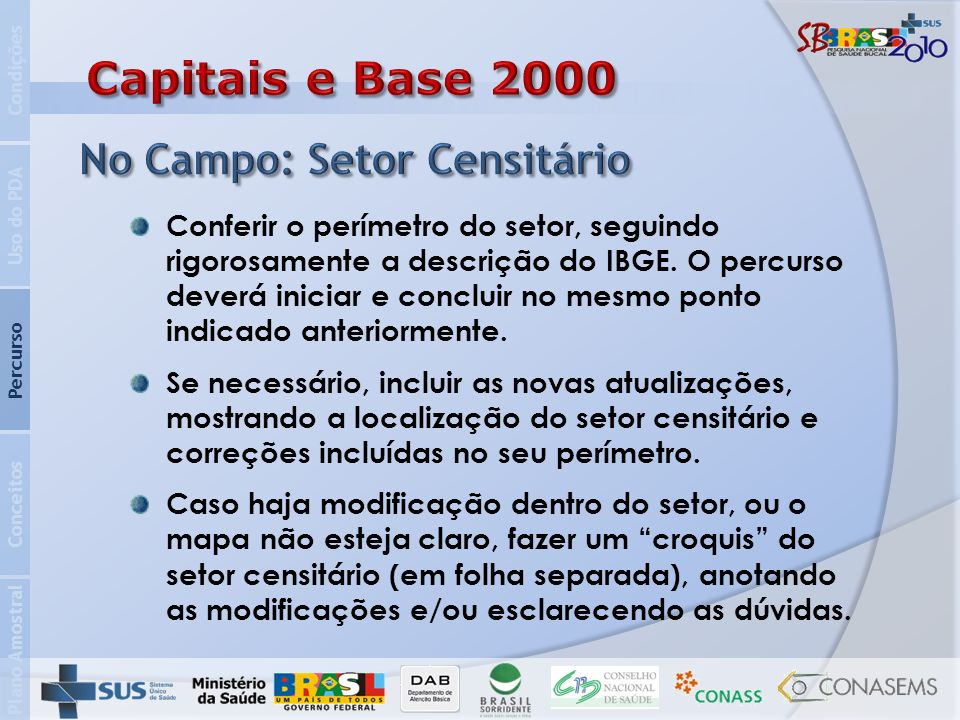 Capitais e Base 2000 No Campo: Setor Censitário