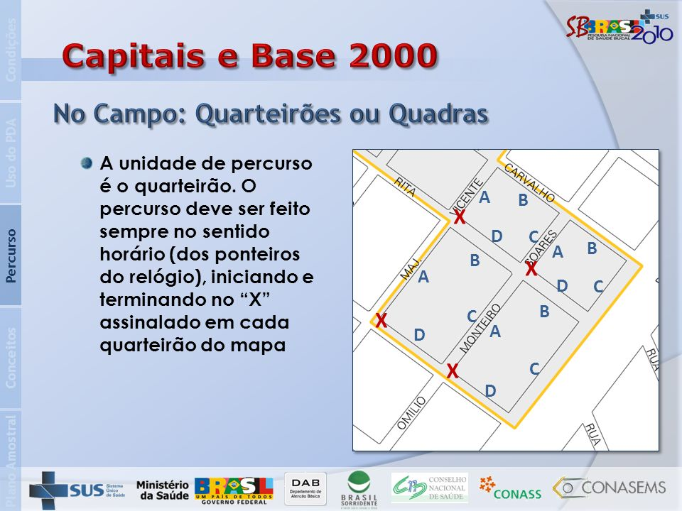 Capitais e Base 2000 No Campo: Quarteirões ou Quadras X