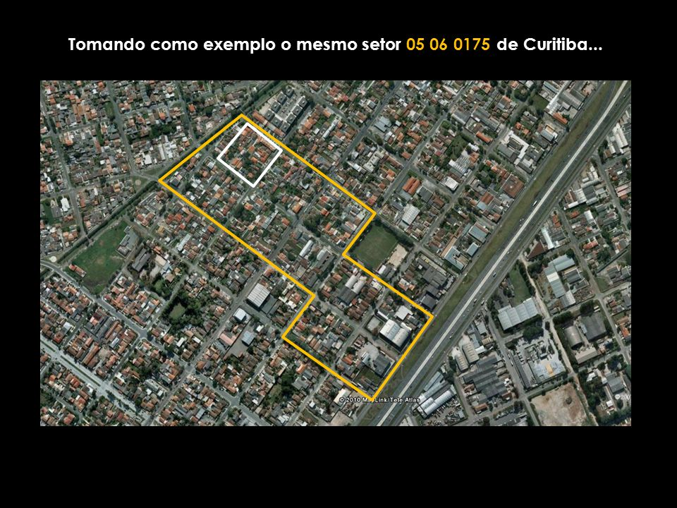 Tomando como exemplo o mesmo setor 05 06 0175 de Curitiba...