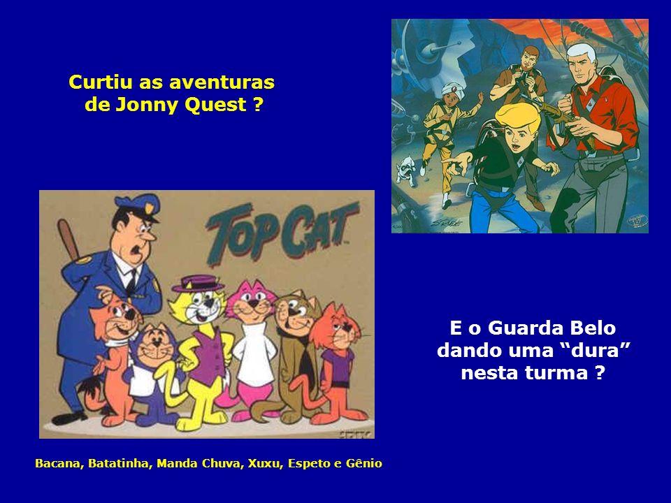 Curtiu as aventuras de Jonny Quest E o Guarda Belo dando uma dura