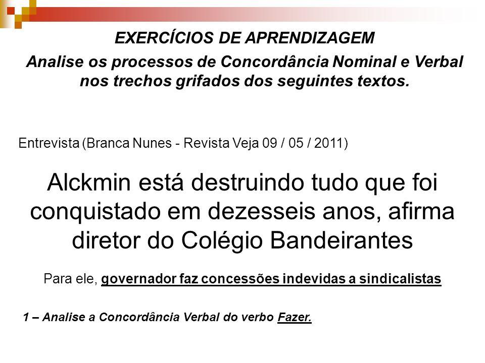 EXERCÍCIOS DE APRENDIZAGEM