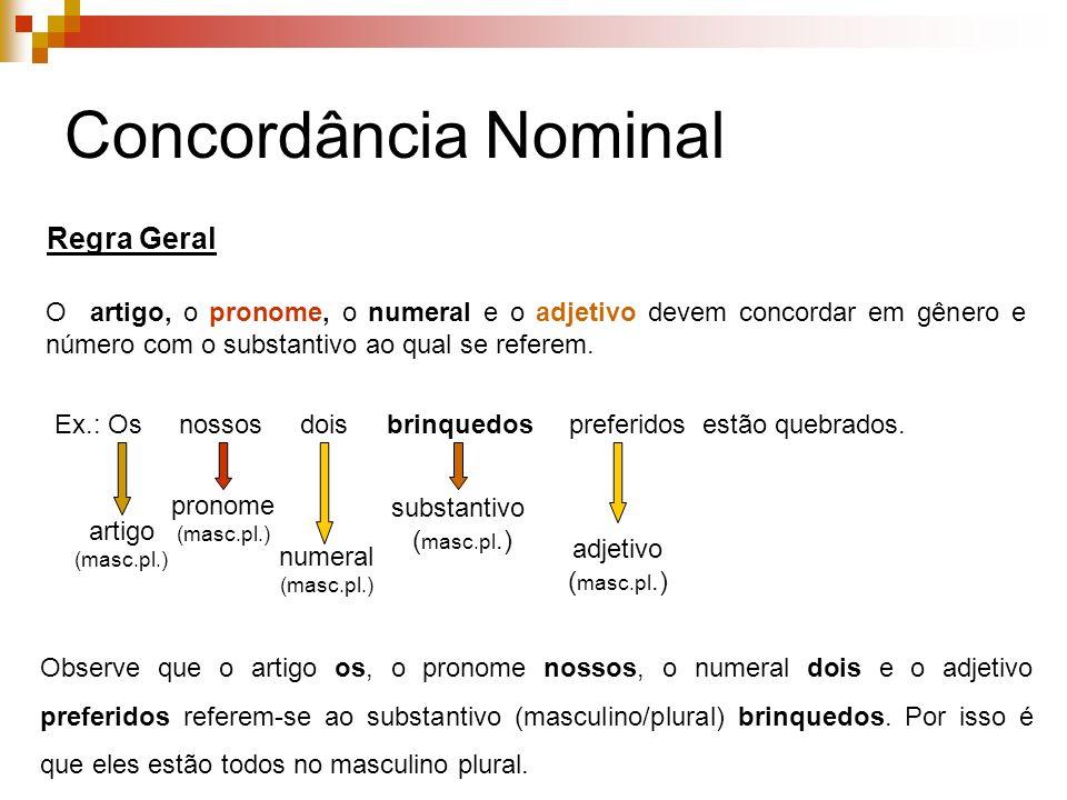 Concordância Nominal Regra Geral
