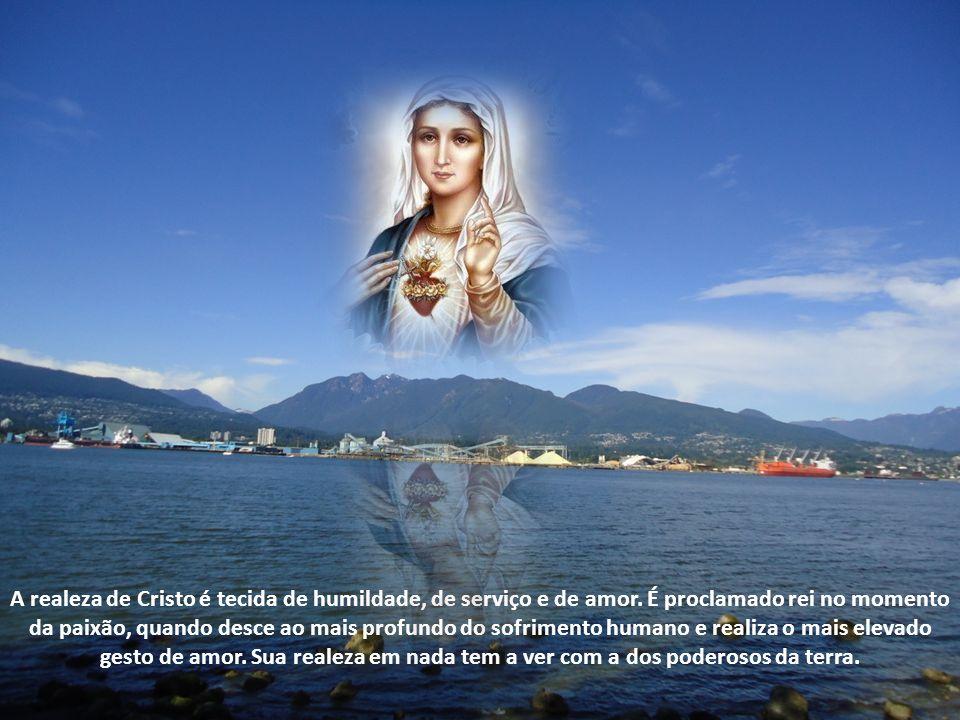 A realeza de Cristo é tecida de humildade, de serviço e de amor