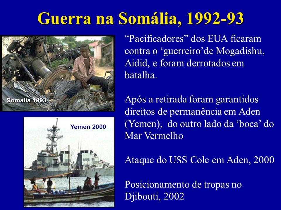 Guerra na Somália, 1992-93 Pacificadores dos EUA ficaram contra o 'guerreiro'de Mogadishu, Aidid, e foram derrotados em batalha.