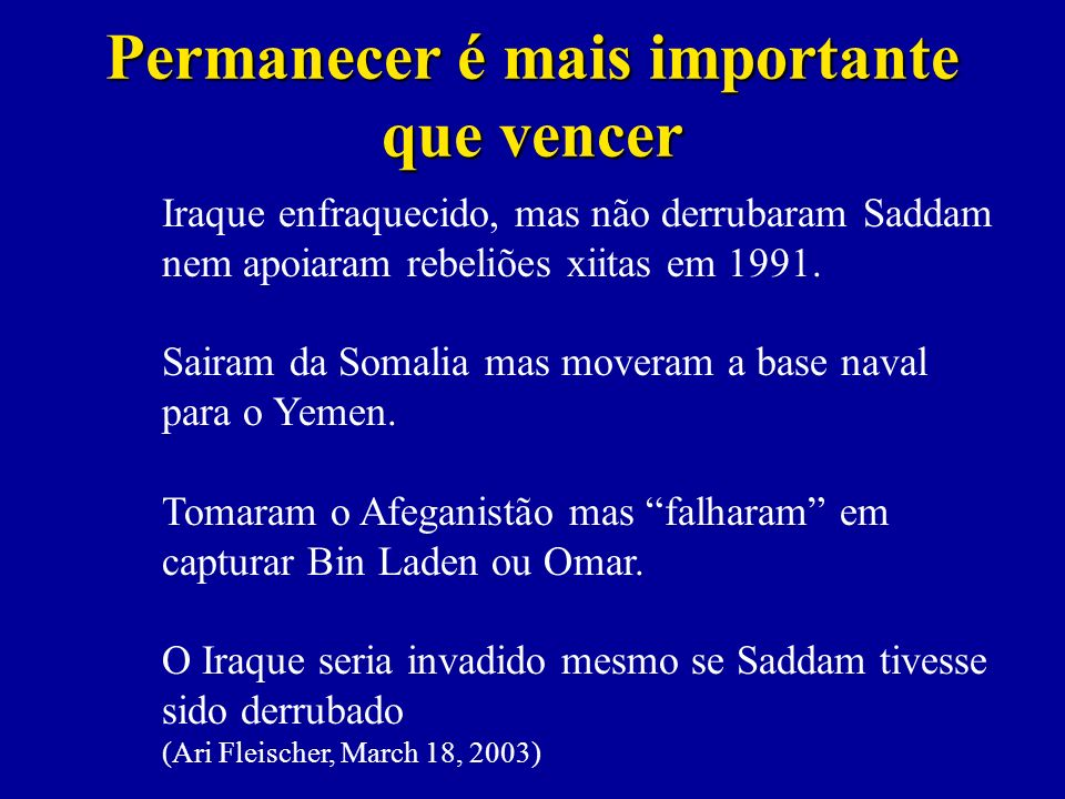 Permanecer é mais importante que vencer