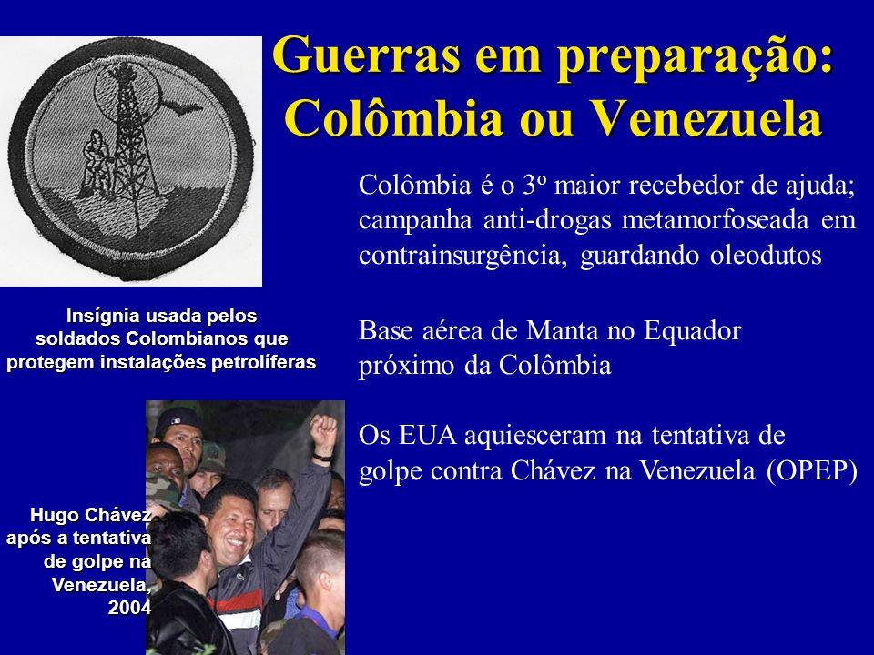 Guerras em preparação: Colômbia ou Venezuela