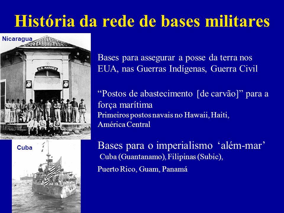 História da rede de bases militares